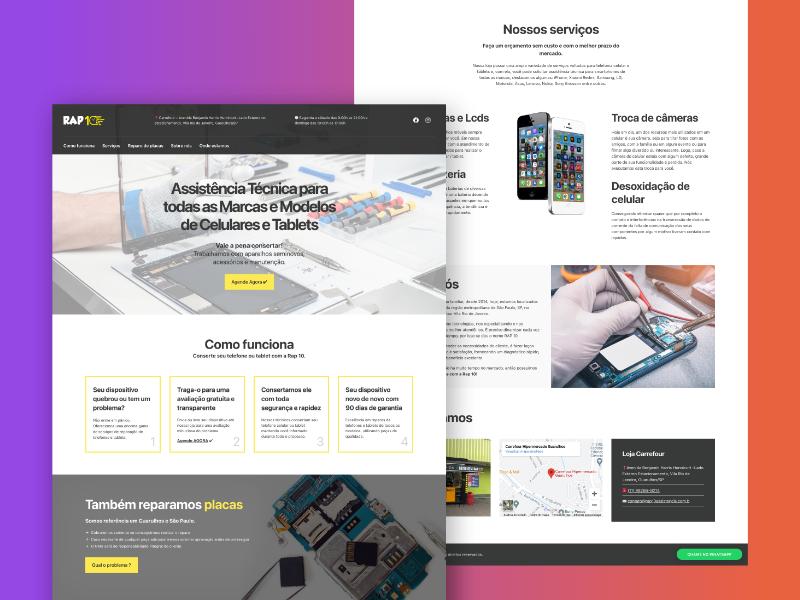 Criação de site para assistência técnica de smartphones